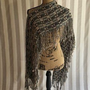 LOFT woven fringe scarf